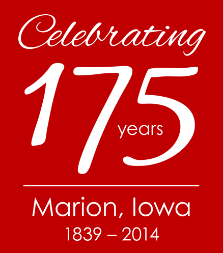175th anniversary logo on red