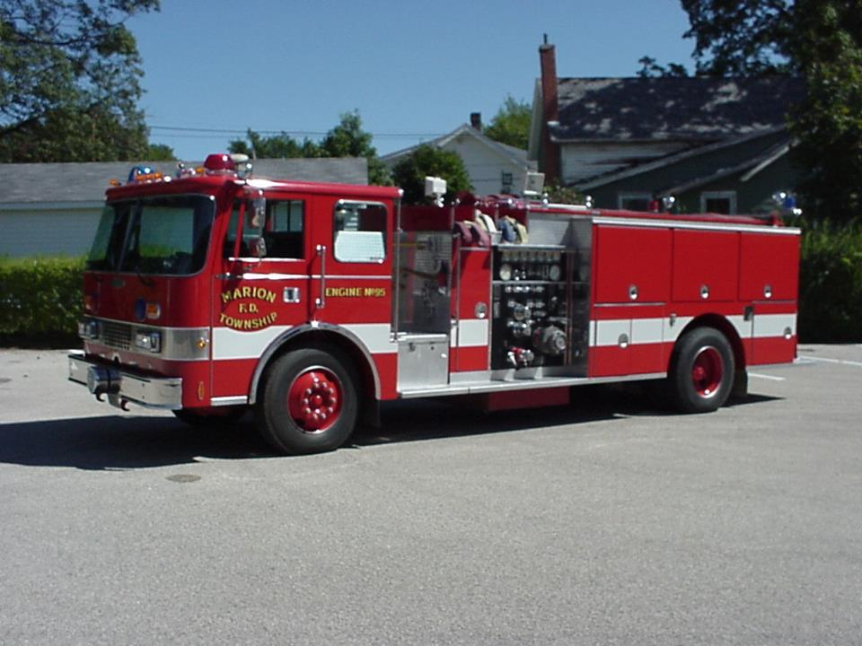 1989 Pierce Dash. 1000 GPM pump. 1000 gallon tank. Used for rural fire fighting. Purchased by the Marion Township.