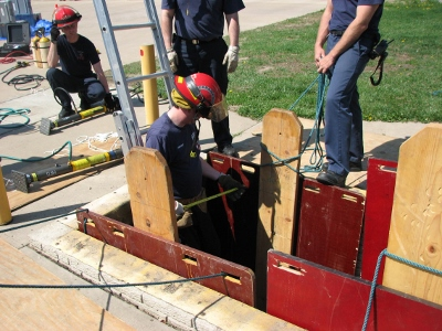 Fire Dept. Trench Training