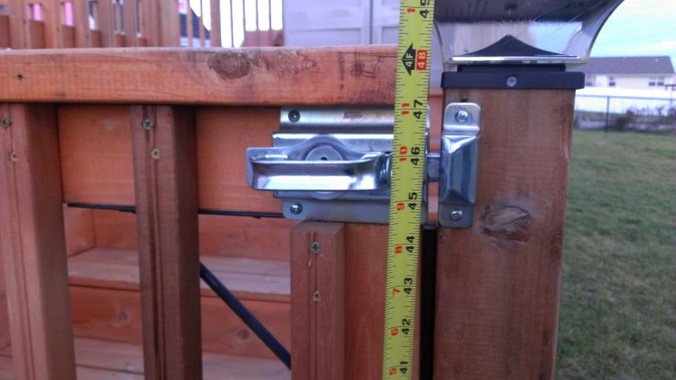 Pool Barrier latch not correct height