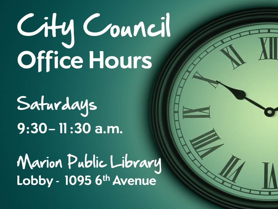 council office hours sign