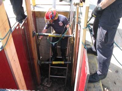 Fire Dept. Training in Trenches