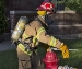 fire fighter at hydrant