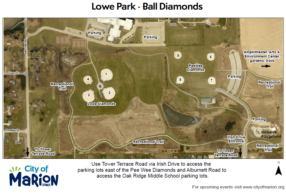 Lowe Park - baseball diamonds