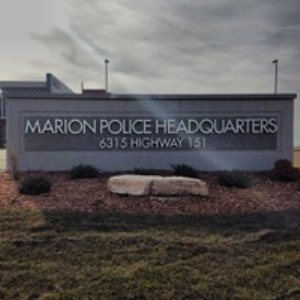 police department headquarters sign