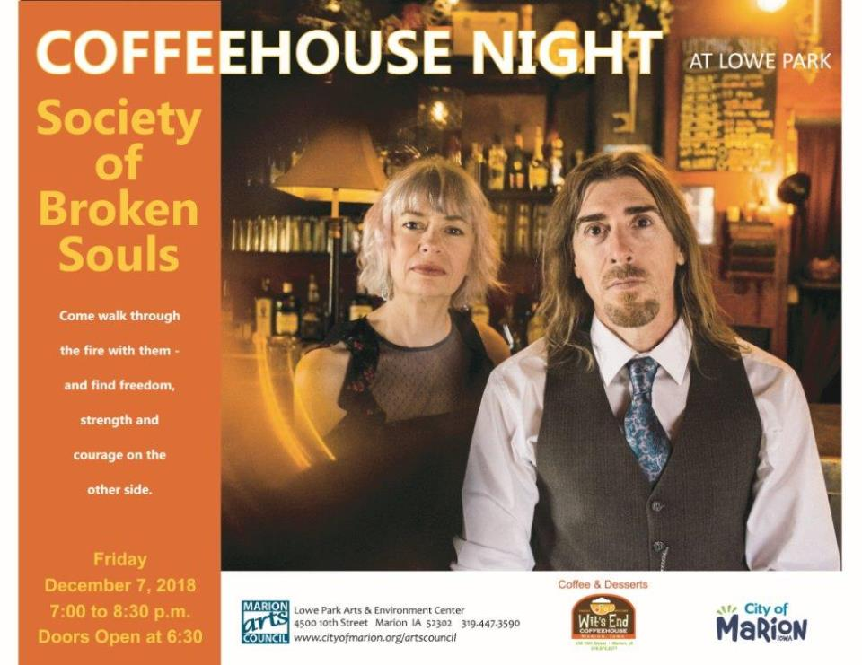 Coffee House Night December 2018 -Society of Broken Souls Poster