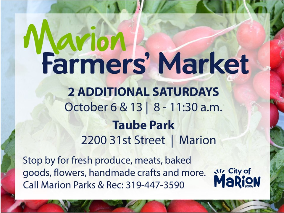 farmers' market extended two weeks