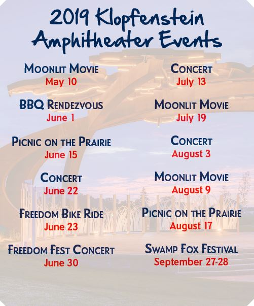 amphitheater events 2019