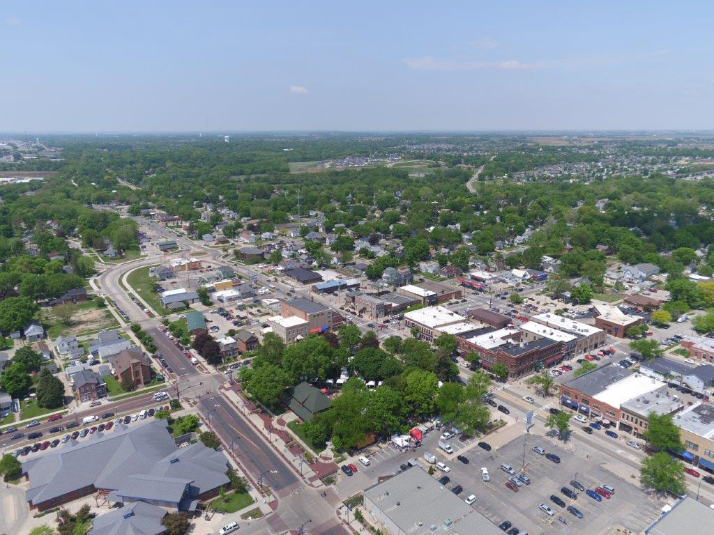 aerial photo of Uptown Marion