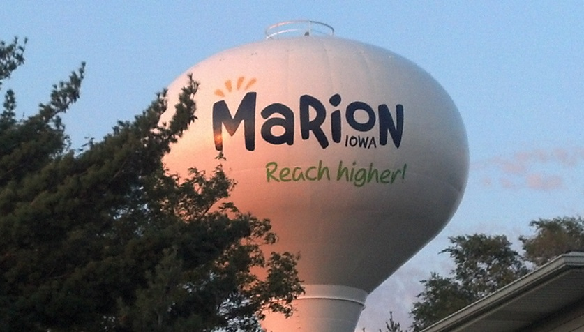 Marion water tower